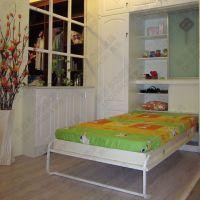 新品客厅折叠床定制床wall bed壁床批发蜗居小户型家具翻床批发