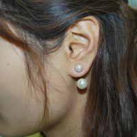 B1463 千金归来 那年冬天风在吹宋慧乔同款大小珍珠耳钉 磁铁耳夹