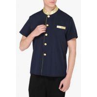 短袖服务员工装 餐饮服务员服装