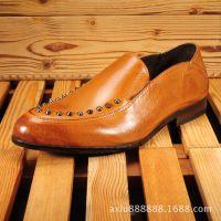2015年男士新款真皮商务正装品牌男皮鞋英伦男士尖头男鞋潮批发厂