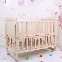 童床厂家批发实木婴儿床 多功能婴儿摇蓝床摇篮 加长侧翻可变摇床