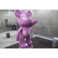 玻璃钢卡通雕塑 动物小紫熊雕塑 名图玻璃钢雕塑厂