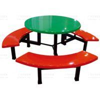 玻璃钢圆形食堂餐桌椅广州双邻厂家供应