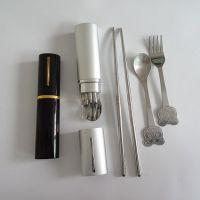 淘宝网热销礼品 便携不锈钢餐具套装 混批批发 元旦促销 可打logo
