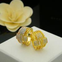 中东迪拜热销多层菱格纹方块镶钻戒指 铜微镶镀24K金外贸饰品批发