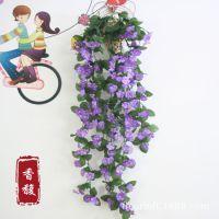 厂家批发 仿真花 藤条 藤蔓 把束花藤 壁挂藤 绿植装饰 紫罗兰藤