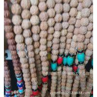 尼泊尔5瓣108颗小金刚菩提 珠径6-8MM  配绿松石红松石青金石