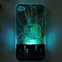 工厂低价供应上市iphone4S 3D来电闪保护壳深圳厂家直销