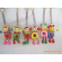 供应木制玩具/木制工艺品/弹簧木偶/家居挂件弹簧人