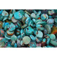 纯天然湖北绿松石原石打磨成形半成品隔片散珠佛珠圆珠批发