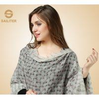 厂家现货羊绒围巾英伦丝绒女士秋冬羊绒披肩 超大超长纯羊绒围巾
