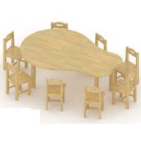 梨型桌、儿童桌椅、儿童家具、幼儿园家具、书柜、玩具柜、儿童床