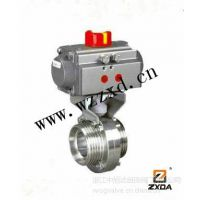 供应供应D661F-10P气动卫生级焊接蝶阀