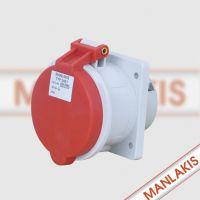 厂家直销 上曼电气直插式插座TYP-3451 德国工业防水插座 5芯32A 400V
