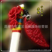 厂家批发民族风玫瑰花发簪 纯手工制作漆雕发簪 特色女式发簪