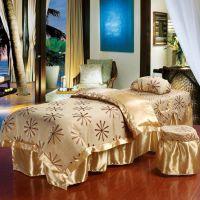 美容床罩 四件套 熏蒸按摩护理SPA 高档提花蕾丝被套