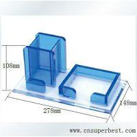 办公室亚克力文具收纳盒 便签纸盒定做 深圳有机玻璃制品生产厂家