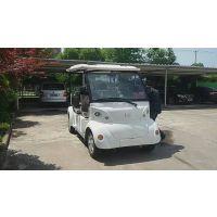 朗迈Q05白色电动观光车,风景区旅游观光游览电瓶车,5座四轮电动车