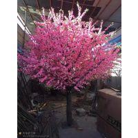 定制粉色桃花树 仿真大型樱花树 节庆用品仿真植物