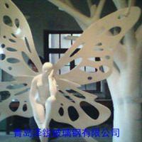 玻璃钢天使雕塑,玻璃钢商场大型摆件