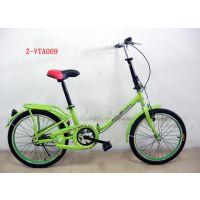 供应嫩绿色轻便折叠单车 广州自行车公司