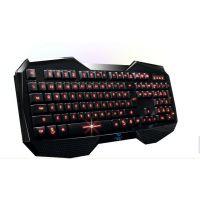 狼蛛八荒背光键盘 游戏键盘 USB笔记本电脑键盘 多媒体 防水键盘
