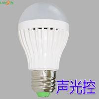 5WLED声光控球泡灯 物业楼道过道卫生间感应灯泡 工程LED感应灯