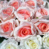经典细腻单枝高档红玫瑰假花仿真花绢花装饰花月季