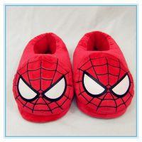 冬季家居毛绒拖鞋 蜘蛛侠情侣棉拖鞋室内地板包跟保暖棉鞋