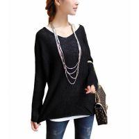 2014春瑞丽韩版新品 薄款宽松大码蝙蝠袖长袖毛衣针织打底衫女装