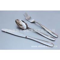 不锈钢西餐具牛排刀叉勺子三件套装 酒店餐厅专用餐具套装 刀叉更