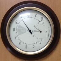 供180mm高级红木双金属指针式机械温度计湿度计表