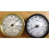 供应45mm指针机械式双金属家用小型温度计表湿度计表