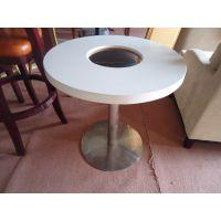 深圳定制 大理石餐桌、火锅餐桌、刷刷锅餐桌、焖锅店餐桌
