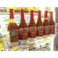 专业定制 各种冰箱吸盘有机玻璃陈列架 商超士多店亚克力饮料展示架