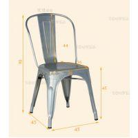 厂家直销欧式风格金属黑色铁艺餐椅 咖啡店椅子 酒店吧台椅子