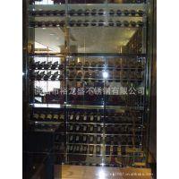 不锈钢酒架、黑钛拉丝酒架、葡萄酒放置架 葡萄酒酒架 酒架不锈钢