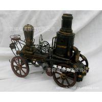 老爷车仿古模型  1857年蒸汽机车有历史年份的摆设品