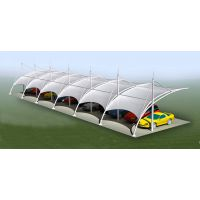 膜结构雨棚制作球场膜结构