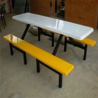 荔湾区食堂专用餐桌椅批发 海珠区快餐桌椅价格 新款8人餐桌椅供应,质量保证