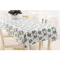 一件零售下午茶绿茶文化国粹图案热销环保外贸材料塑料桌布