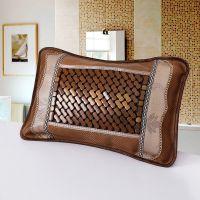 专业供应新款竹枕头 磁疗麻将枕 双面夏季凉枕 冰丝茶叶保健枕
