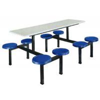 食堂连体餐桌椅 (特价促销)八人位玻璃钢餐桌椅 专业批发