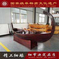 欧式木船手划船装饰木船景观木船可定制小木船两头尖拍摄道具木船