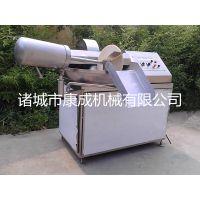 变频调速斩拌机小型40不锈钢斩拌机烤肠香肠乳化斩切机康成机械