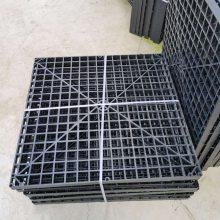 塑料网格填料 全新料650×650网格板价格 污水格子填料蓝色多钱一块 【河北华强】