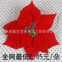 上海仿真一品红  2014圣诞展示 仿真植物 厂家直销 曹家渡花市
