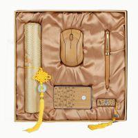 2015年批发定制办公用竹子礼品 竹子工艺品 木质商务会议礼品套装