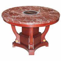 古典中式圆形电磁炉火锅台 小肥羊大理石火锅餐厅桌子