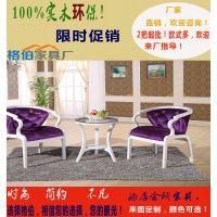 森伯源欧式仿古木艺圆桌沙发组餐厅酒店洽谈桌椅现代实木布艺椅